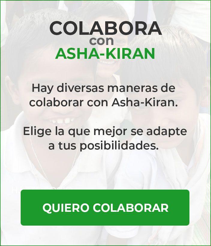 colabora con Asha-Kiran
